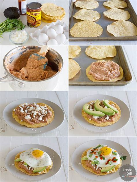 Handmade Breakfast - easy breakfast tostadas taste and tell