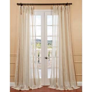 sheer cream curtains linen sheer curtains overstock com