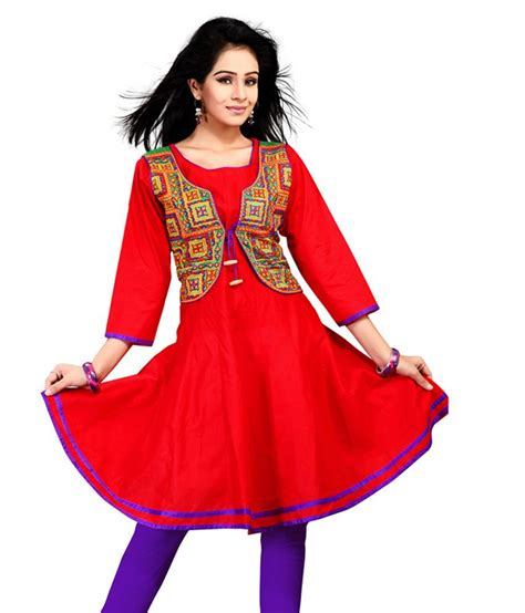 kurti pattern with jacket feminista red kali style kurti round neck multi abstract