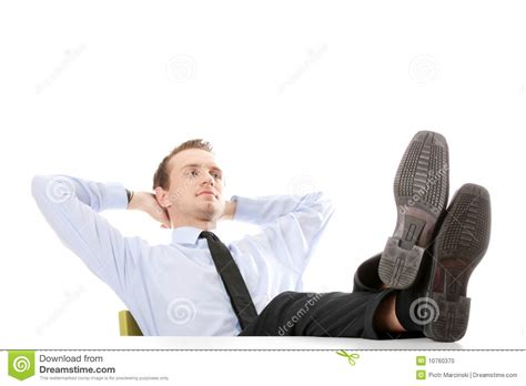 Sitting At Desk by Businessman Sitting At Desk Stock Photo Image 10760370