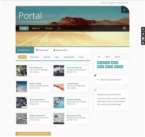 12 of the best joomla news templates down