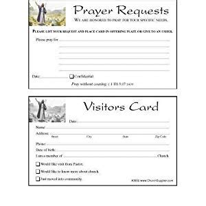 Lovely Church Visitor Card Template #2: 51+y12rk32L._SY300_.jpg