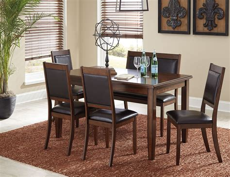 6 piece dining room sets meredy brown 6 piece dining room set from ashley coleman