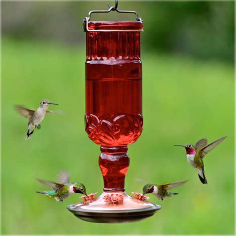 duncraftcom red antique bottle hummingbird feeder