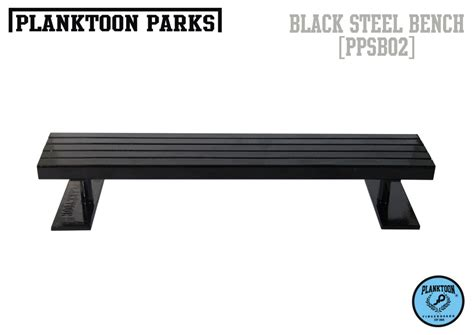 fingerboard bench planktoon parks quot black steel bench quot ppsb02