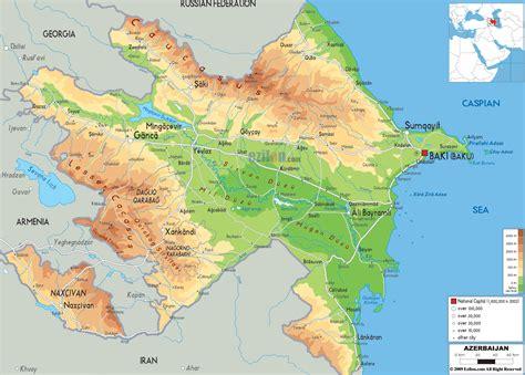 where is azerbaijan on a world map azerbaycan xeritesi map