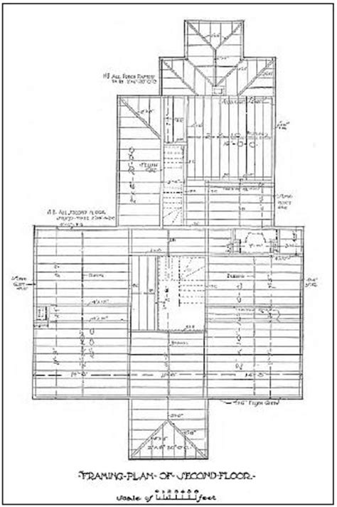 2nd floor framing plan vintage house plans 101 exles downloadable vintage