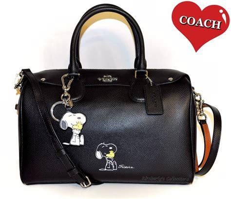Coach Bennet Snoopy coach x peanuts snoopy large satchel bag