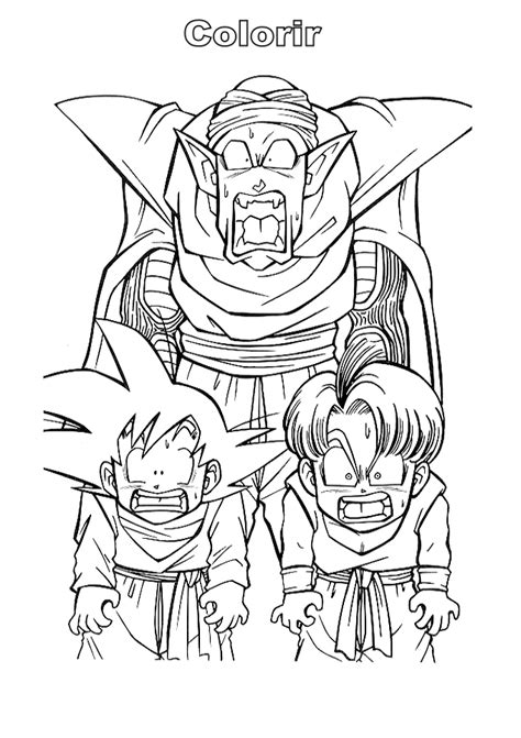 os melhores desenhos para colorir do dragon ball z s o imagens para desenho do dragon ball z desenhos para colorir desenho