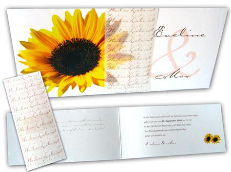 Hochzeitseinladung Transparentpapier by Hochzeitseinladung Die Sonnenblume