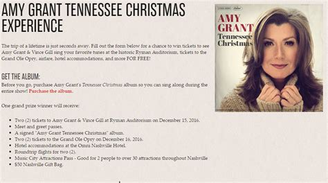 Tennessee Sweepstakes - 2016 amy grant tennessee christmas giveaway morning bubbles