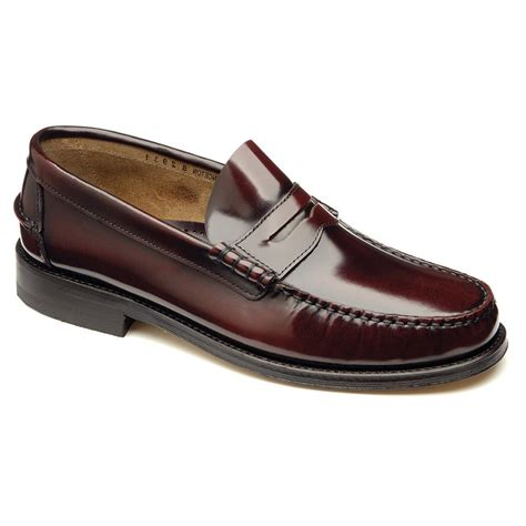 loake loafers loake princeton burgundy moccasin shoes marshall shoes