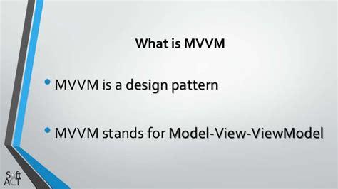 mvvm pattern là gì mvvm model view viewmodel
