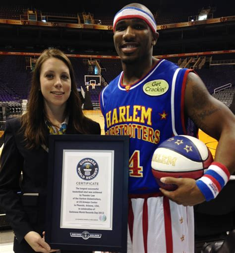 basketball world record harlem globetrotter thunder shatters guinness world