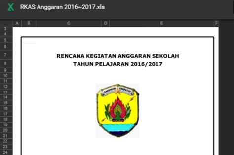 download rkas 2015 sd aplikasi rkas untuk sd sesuai juknis bos 2017