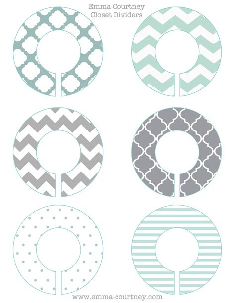 clothes divider template closet dividers printable