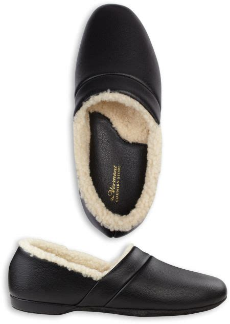 mens leather sheepskin lined slippers mens leather slippers shearling lined house shoes