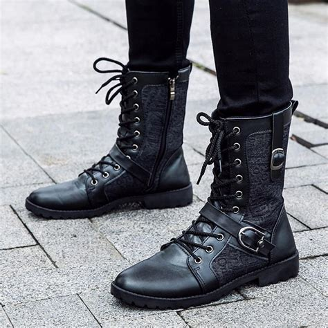 lace up motorcycle boots tangnest autumn martin boots fashion pu leather