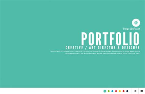 design inspiration web portfolio 22 portfolios de webdesigners graphistes et cr 233 atifs
