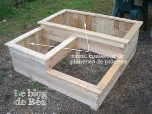 diy carr 233 potager en bois de palette le de b 233 a