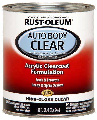 rust oleum automotive 253522 32 ounce autobody paint quart gloss clear coat new ebay