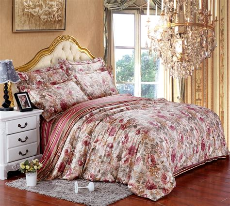 egyptian cotton floral flower luxury bedding sets king