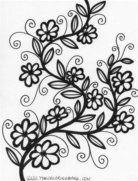 flower coloring pages for adults more flower coloring