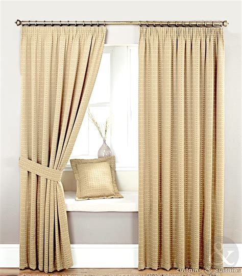 curtain window heavy jacquard natural cream lined curtain curtains and