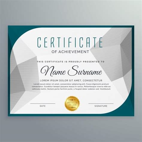 design certificate simple creative simple certificate design template with abstract