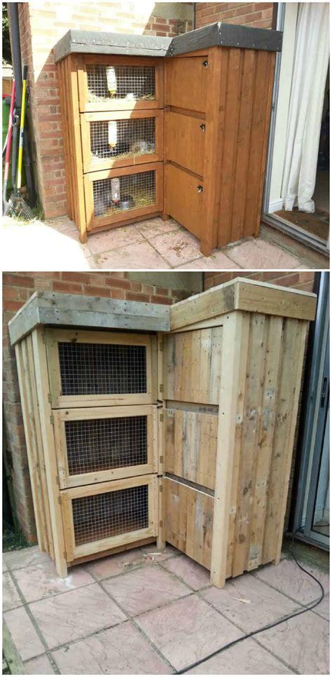 ft corner rabbit hutch  pallets
