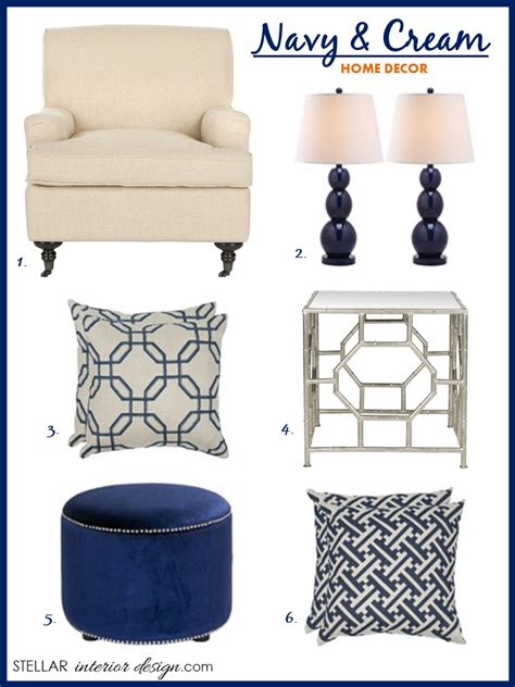navy home decor navy and cream decor stellar interior design