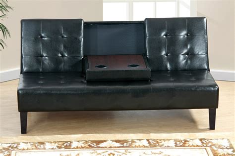 twin size sofa bed poundex f7209 black twin size leather sofa bed steal a
