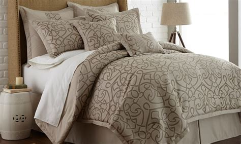8 piece neutral comforter set groupon goods