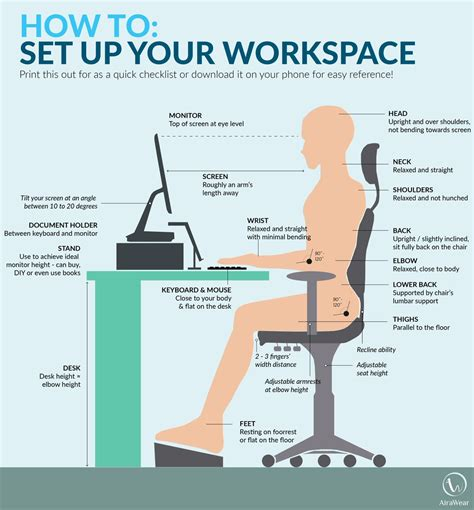 Texas Mutual On Twitter Quot Poor Posture At Your Desk Can Proper Computer Desk Height