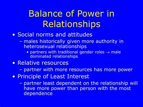 Dating 101 How To Balance The Power In Your Relationship by Ppt Personal Relationships Powerpoint Presentation Id