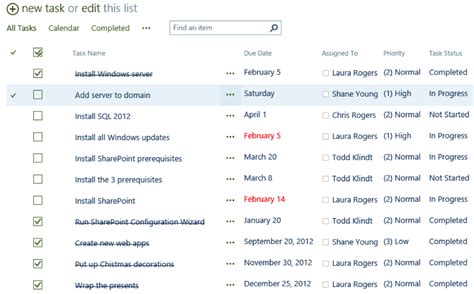 task lists in sharepoint 2013