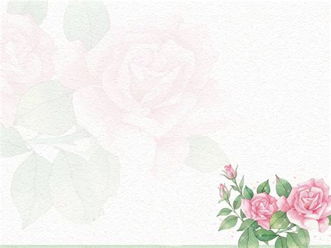 flower powerpoint template flower pattern background 10887