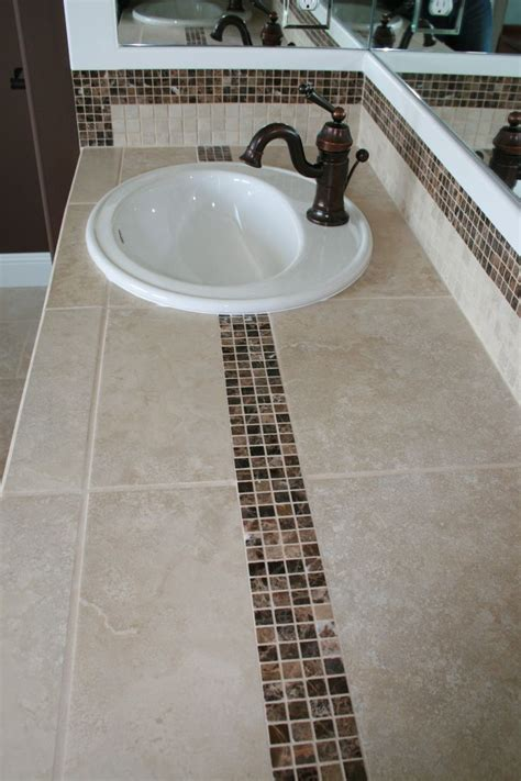 bathroom countertop tile ideas 23 best images about bath countertop ideas on pinterest