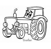Print Out Tractor Coloring Pages  Printable For Kids