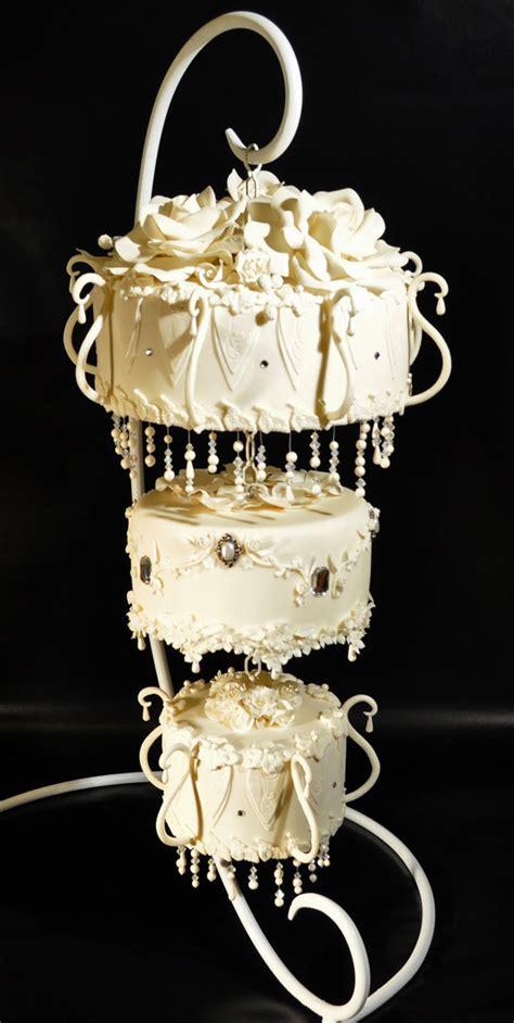 cake chandelier 5 amazing hanging wedding cakes
