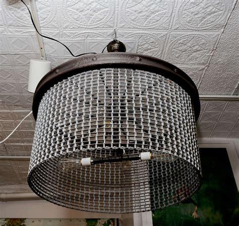 large industrial chandelier large industrial conveyor belt chandelier at 1stdibs