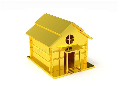 Golden House Miniature Gold Toy Stock Illustration | golden house miniature gold toy stock illustration