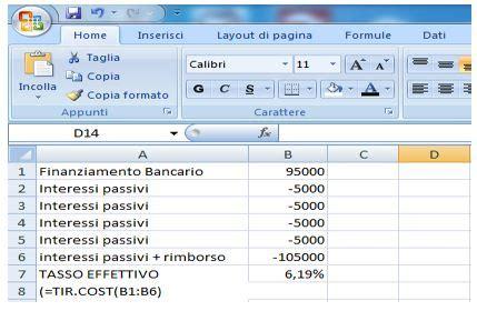 tasso rendimento interno bilancio d esercizio il criterio costo ammortizzato