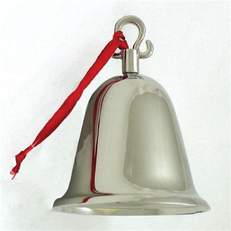 sheridan silver bell christmas ornament