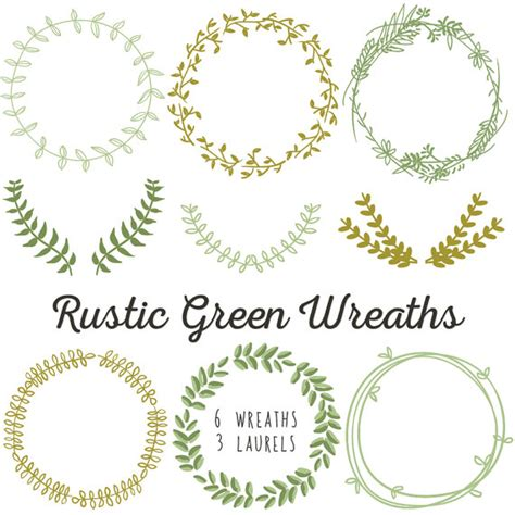 Laurel Wedding Clipart by Laurel Wreath Clip Instant Diy Wedding