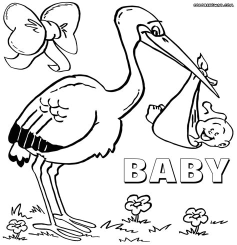 baby shower coloring pages and baby coloring pages