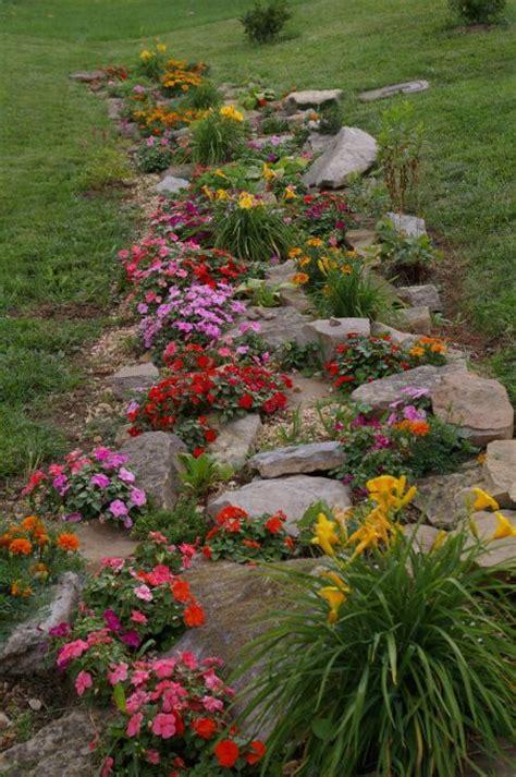rock garden flowers best 25 rock flower beds ideas on front