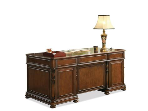 Executive Home Office Desk Riverside Home Office Executive Desk 24530 A W Furniture Redwood Falls Mn