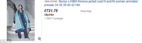 Bosh Bos Fork Tiger Ori Hm kenzo x h m on sale on ebay for seven times the retail price daily mail