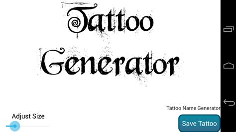 tattoo font sle generator tattoo generator download apk for android aptoide
